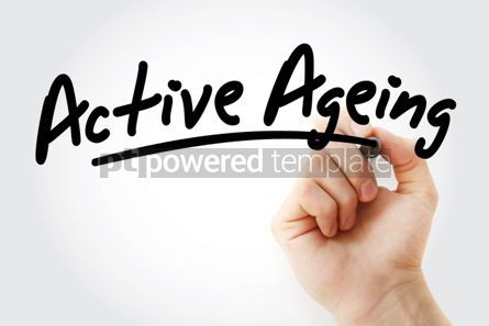 Business: Hand writing Active ageing with marker #01891