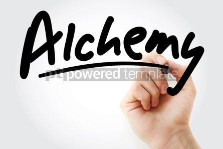 Business: Hand writing Alchemy with marker #01894