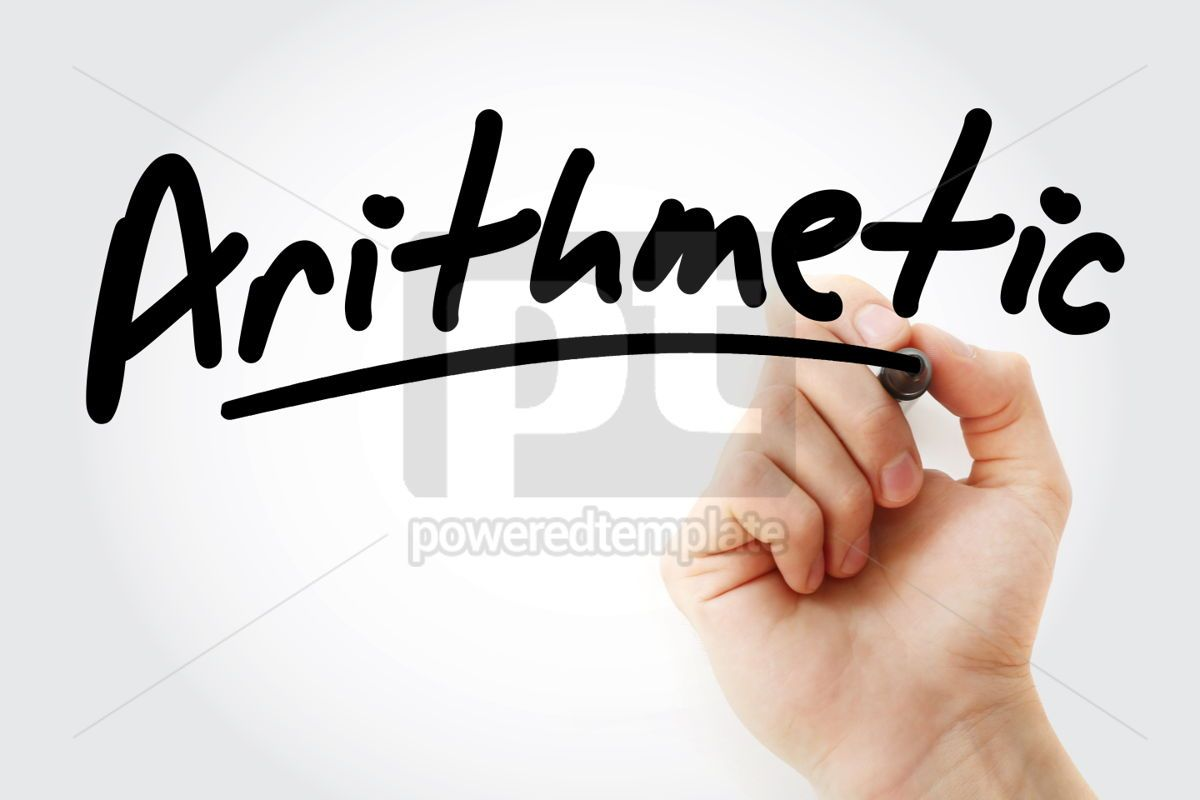 Hand writing Arithmetic with marker, 01898, Business — PoweredTemplate.com