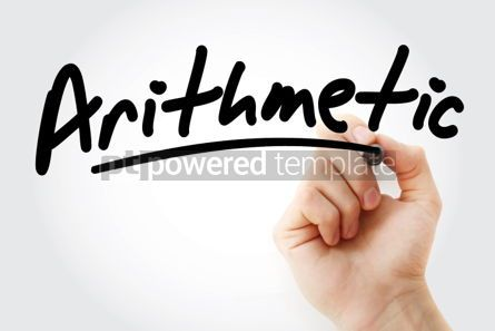 Business: Hand writing Arithmetic with marker #01898