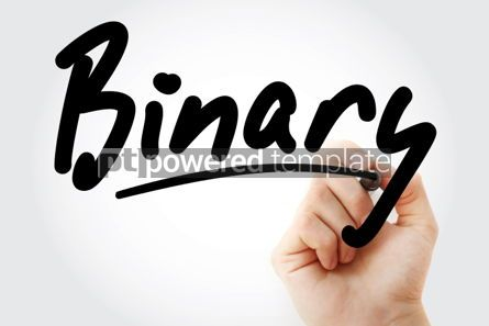 Business: Hand writing Binary with marker #01901