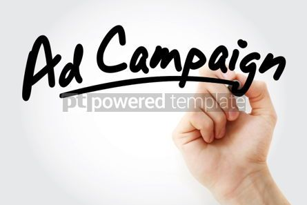 Business: Hand writing Ad campaign with marker #01904