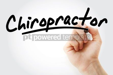 Business: Hand writing Chiropractor with marker #01906