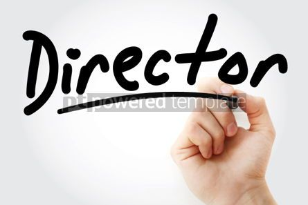 Business: Hand writing Director with marker #01907