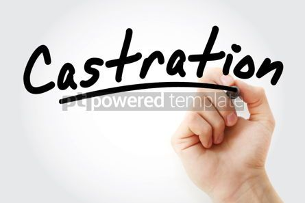 Business: Hand writing Castration with marker #01909