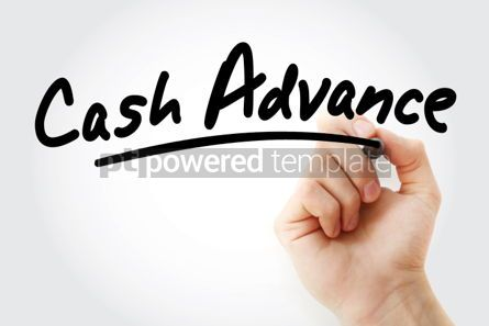 Business: Hand writing Cash advance with marker #01910