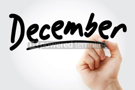 Business: Hand writing December with marker #01912