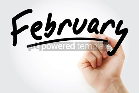Business: Hand writing February with marker #01913