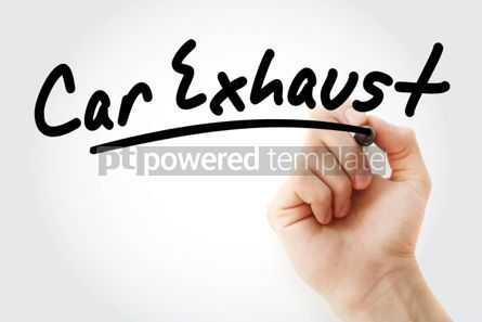 Business: Hand writing Car exhaust with marker #01915