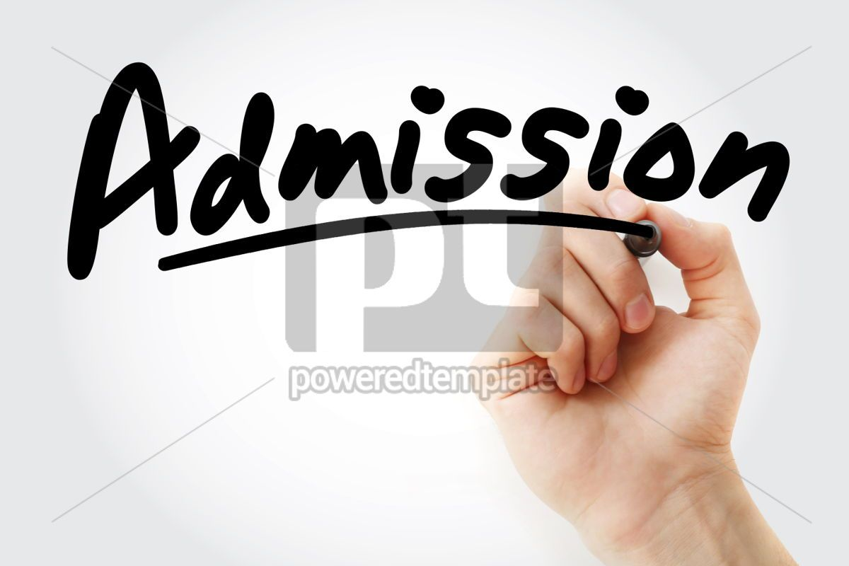 Hand writing Admission with marker, 01916, Business — PoweredTemplate.com