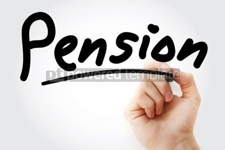Business: Hand writing Pension with marker #01926