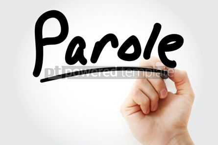 Business: Hand writing Parole with marker #01927