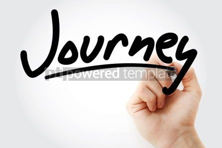 Business: Hand writing Journey with marker #01929