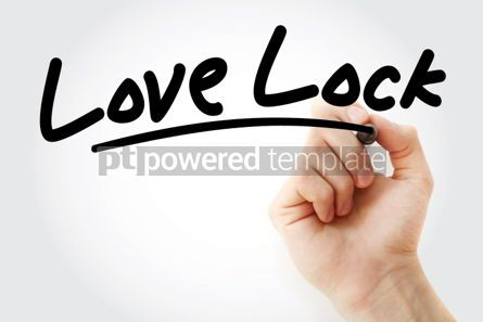 Business: Hand writing Love lock with marker #01932