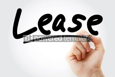 Business: Hand writing Lease with marker #01933
