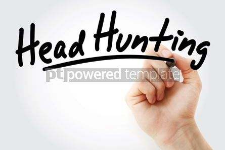 Business: Hand writing Head hunting with marker #01936
