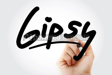 Business: Hand writing Gipsy with marker #01938