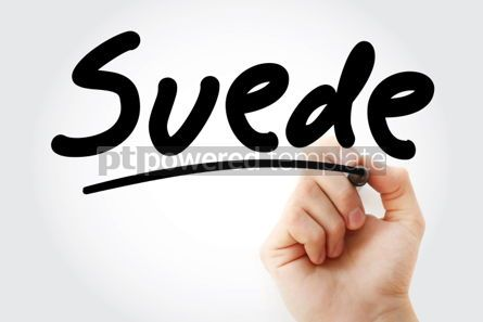 Business: Hand writing Suede with marker #01939