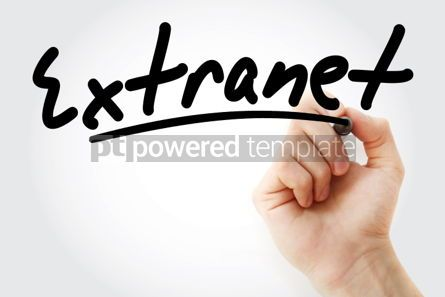 Business: Extranet text with marker #01942