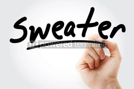 Business: Sweater text with marker #01943