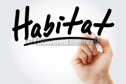Business: Habitat text with marker #01948