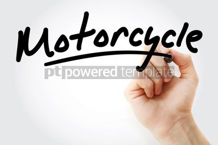 Business: Hand writing Motorcycle with marker #01953