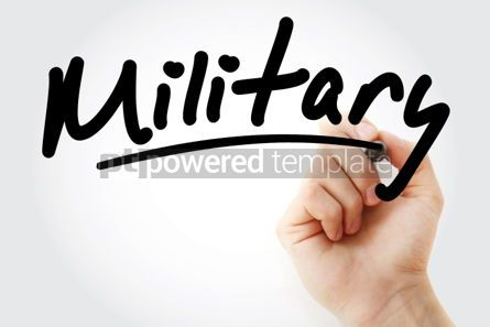 Business: Hand writing Military with marker #01954