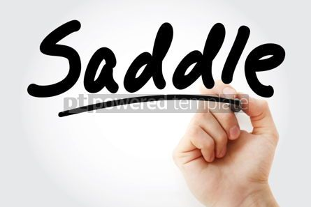Business: Hand writing Saddle with marker #01955