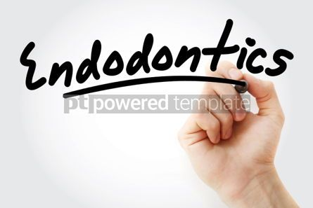 Business: Hand writing Endodontics with marker #01962