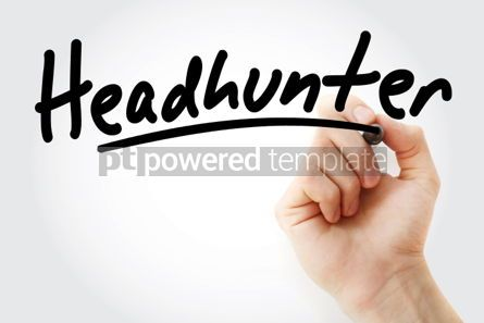 Business: Hand writing Headhunter with marker #01964