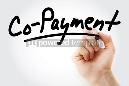 Business: Hand writing Co payment with marker #01967