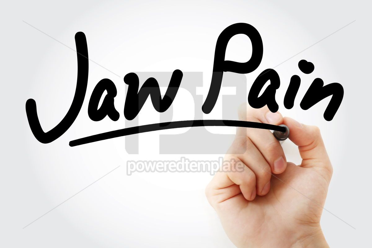 Hand writing Jaw pain with marker, 01968, Business — PoweredTemplate.com
