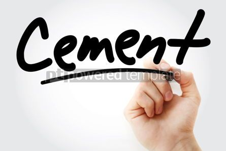 Business: Hand writing Cement with marker #01972