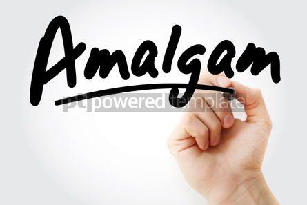 Business: Hand writing Amalgam with marker #01976