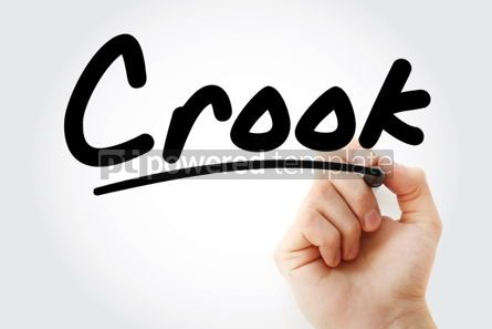 Business: Hand writing Crook with marker #01986