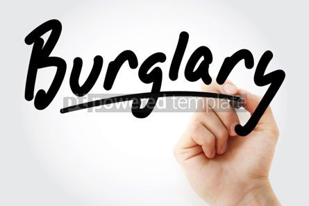 Business: Hand writing Burglary with marker #01993