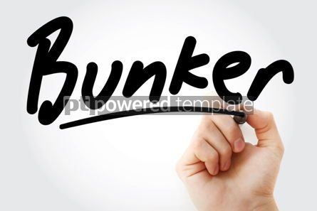 Business: Hand writing Bunker with marker #02003