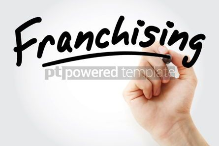 Business: Hand writing Franchising with marker #02005