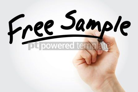 Business: Hand writing Free sample with marker #02007