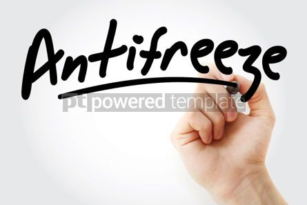 Business: Hand writing Antifreeze with marker #02024