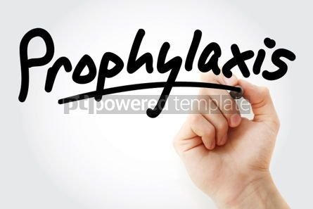 Business: Hand writing Prophylaxis with marker #02029