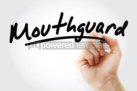 Business: Hand writing Mouthguard with marker #02031