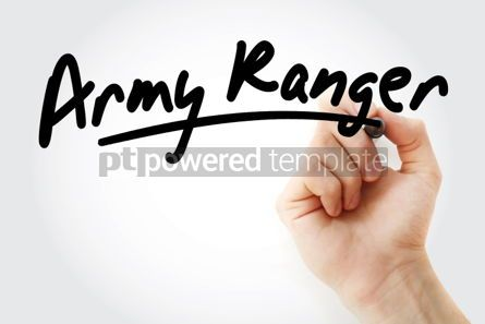 Business: Hand writing Army ranger with marker #02043