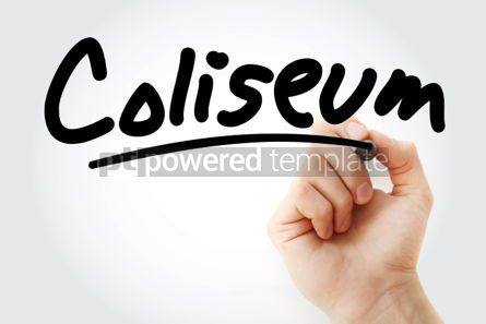 Business: Hand writing Coliseum with marker #02045