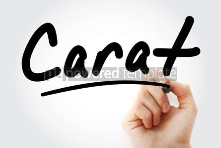 Business: Hand writing Carat with marker #02047