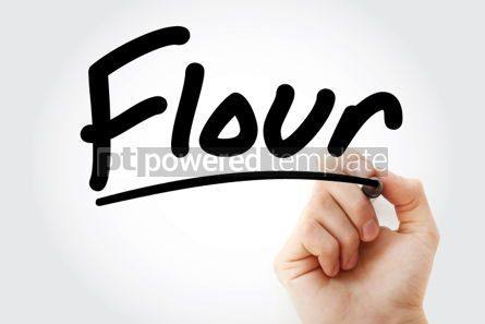 Business: Hand writing Flour with marker #02049