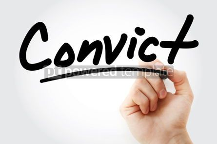 Business: Hand writing Convict with marker #02050