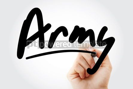 Business: Hand writing Army with marker #02058