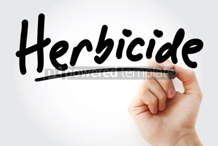 Business: Hand writing Herbicide with marker #02068