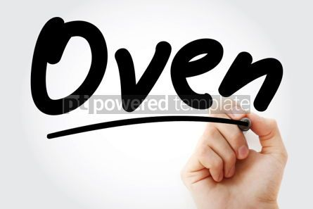 Business: Hand writing Oven with marker #02070